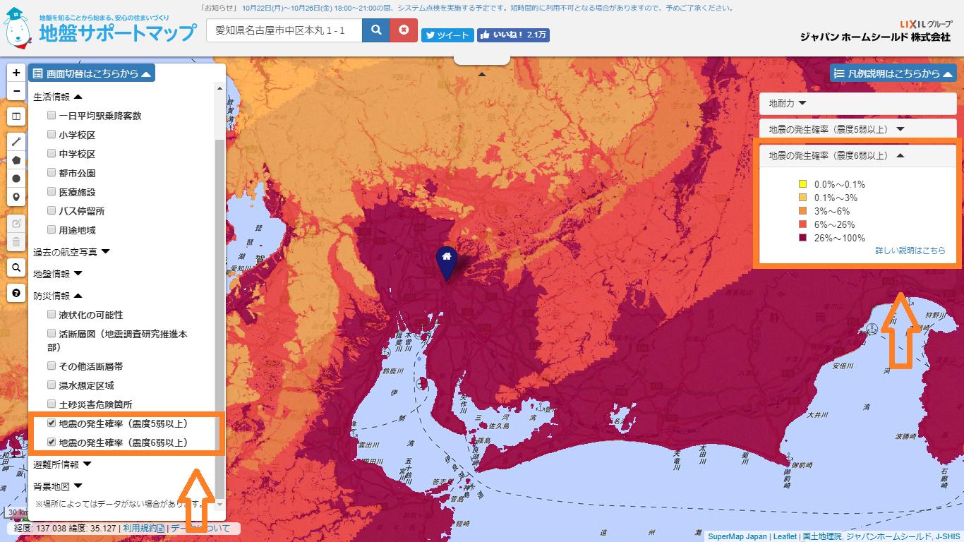 地震の発生確率