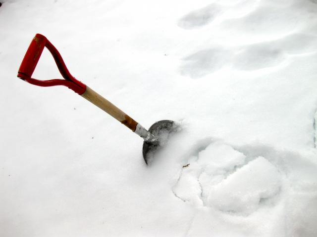 雪とショベル